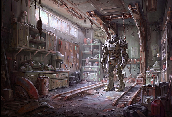 Fallout 4 armour by movie poster prints for Fallout 4 canvas painting