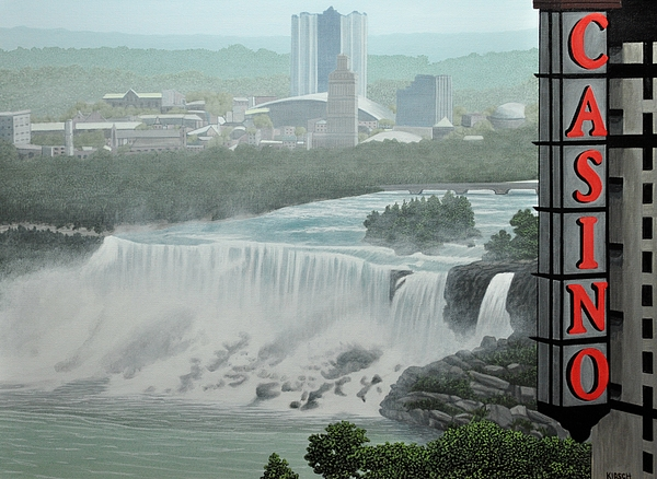 Falls View Print by Kenneth M  Kirsch