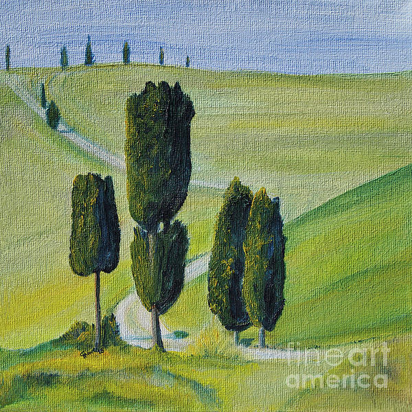 Christine Huwer - Famous Cypress in Tuscany