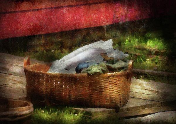 Farm - Laundry  Print by Mike Savad