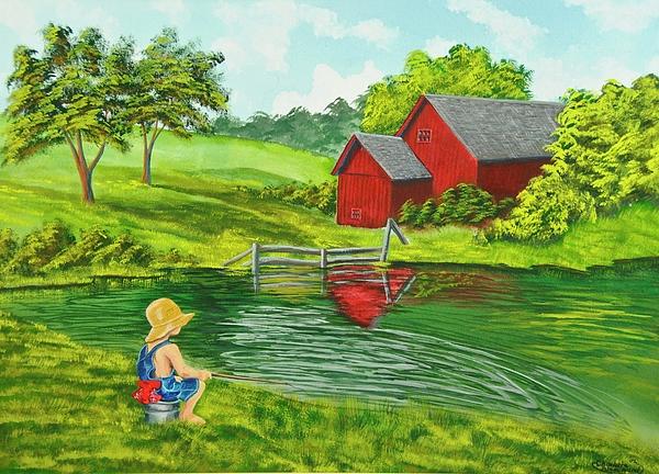 Favorite Fishing Hole Print by Charlotte Blanchard