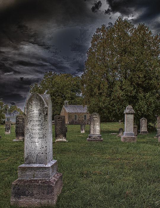 Femme Osage Cemetery Print by Bill Tiepelman