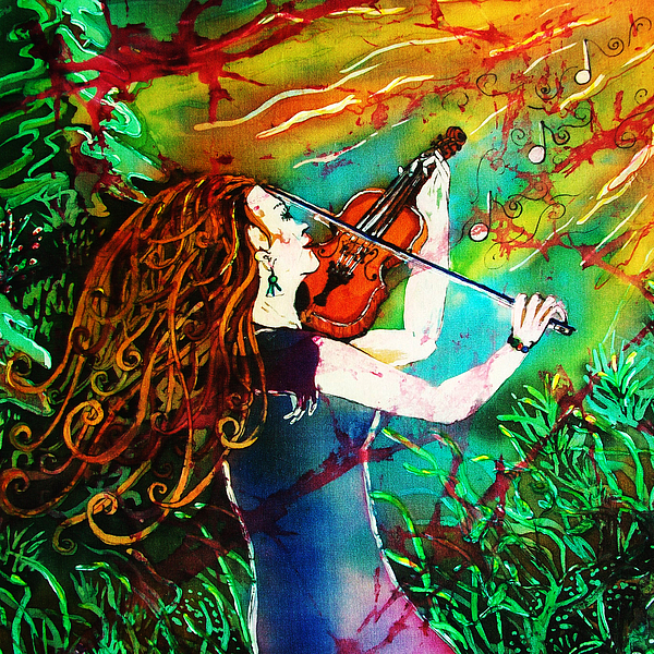Fiddling Toward The Sun Print by Sue Duda
