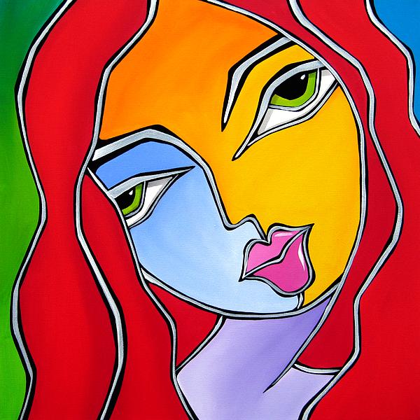 Find A Way - Original Abstract Art By Fidostudio Print by Tom Fedro - Fidostudio