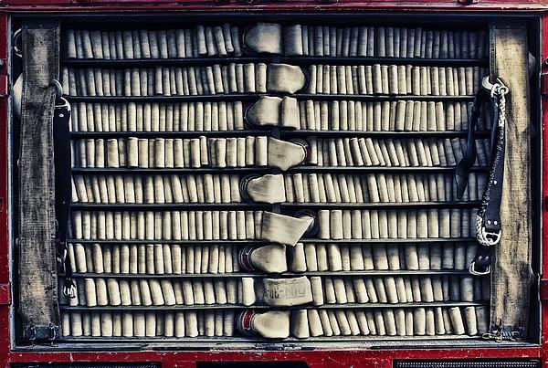 Fire Hose Print by Jutta Maria Pusl