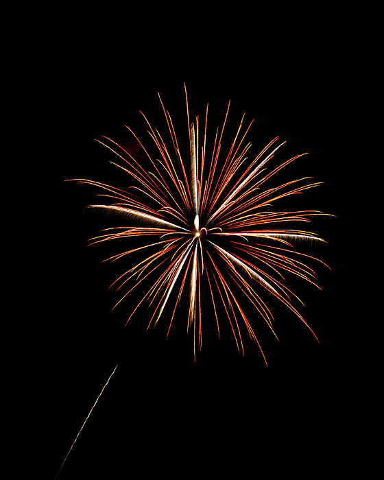 Fire Works Print by Gary Langley