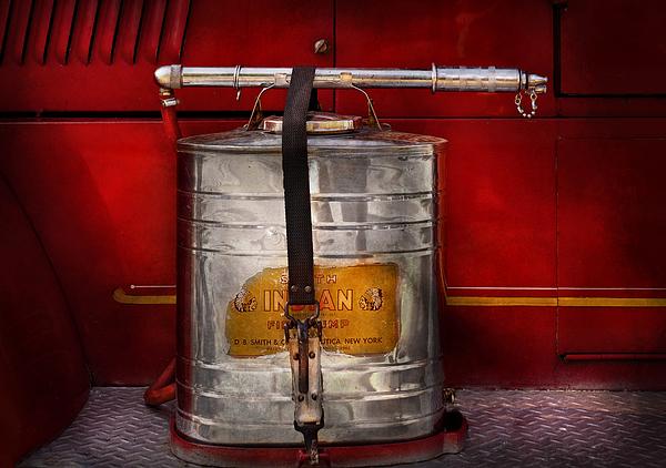 Fireman - Indian Pump  Print by Mike Savad
