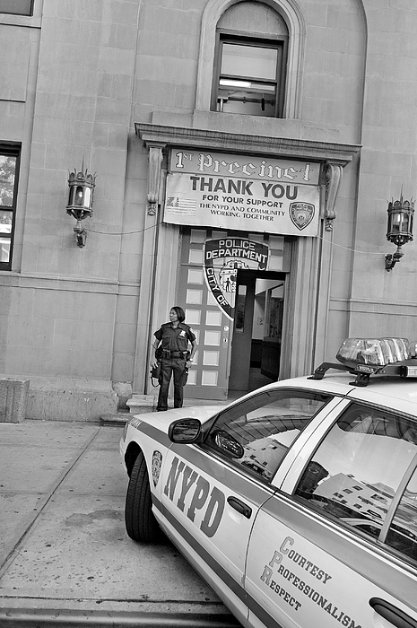First Precinct Nyc Print by Robert Lacy
