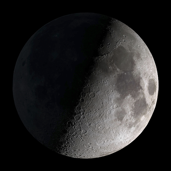 First Quarter Moon Print by Stocktrek Images