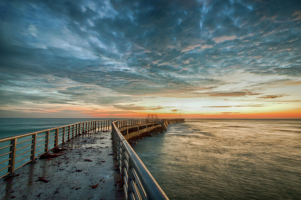 Fishing pier sunrise sebastian florida by r scott duncan for Sebastian inlet fishing pier