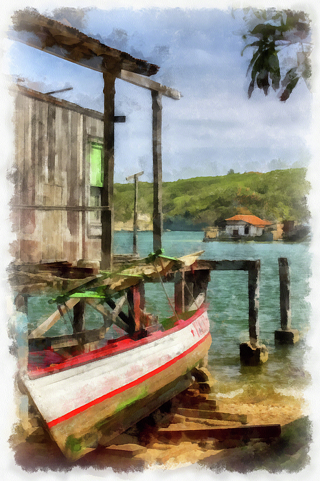 Fishing Village Print by Dawn Currie