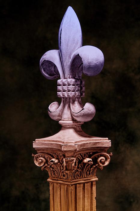 Fleur De Lis V Print by Tom Mc Nemar
