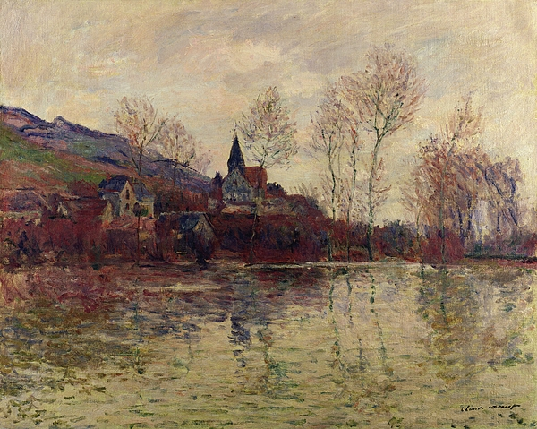 Floods At Giverny Print by Claude Monet