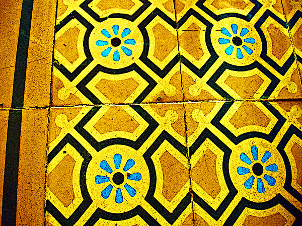 Floor Of Tiles By Michael Fitzpatrick Print by Mexicolors Art Photography