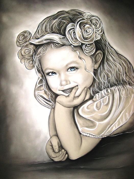Flower Girl Print by Anastasis  Anastasi