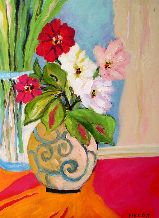 Flowers In Vases By Karen Fields