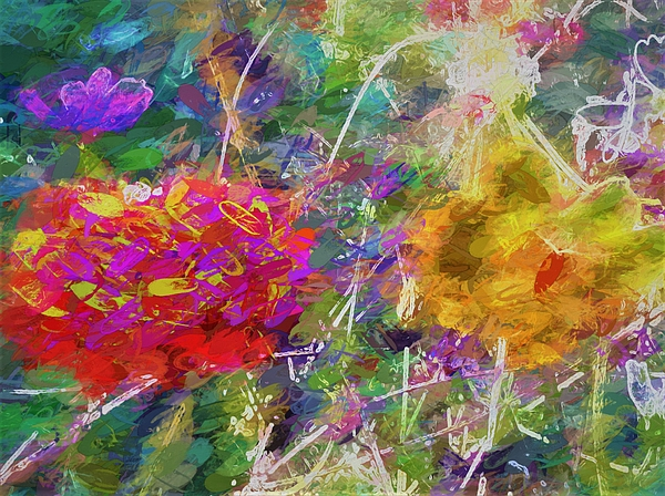 Debra Lynch - Flowing Colors Of Flowers