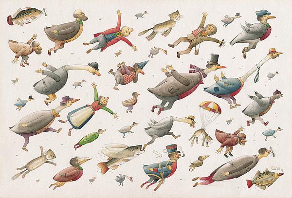 Flying Print by Kestutis Kasparavicius