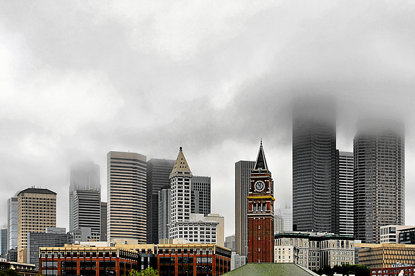 Fog Accents Of Seattle Wa Print by Christine Till