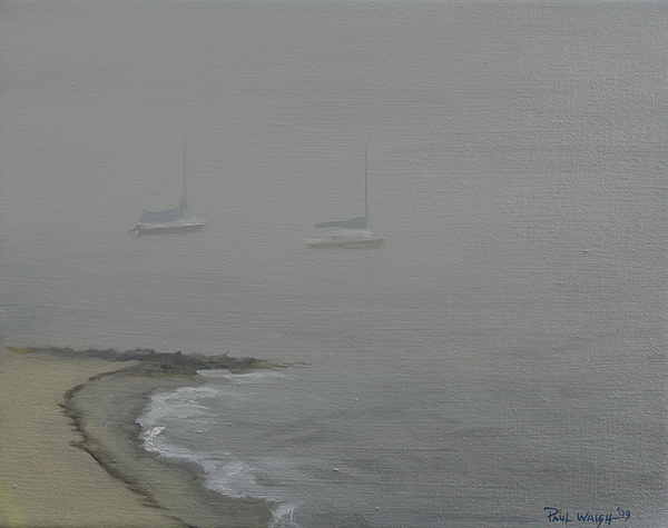 Foggy Shore Print by Paul Walsh
