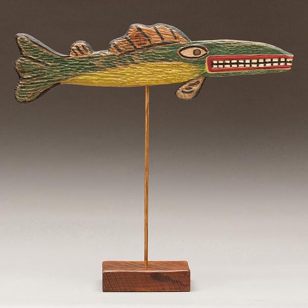 Folk Art Fish Print by James Neill