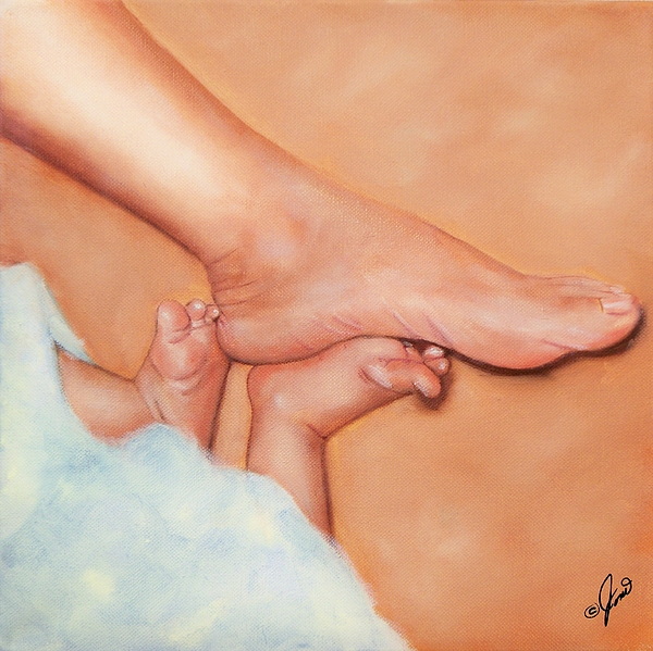 Footsies Print by Joni McPherson