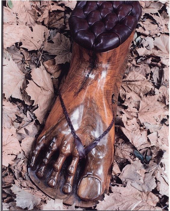 Footstool Print by Lionel Larkin