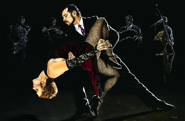 For The Love Of Tango Print by Richard Young