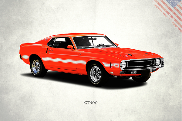 Ford Mustang Shelby Gt500 1969 Print by Mark Rogan