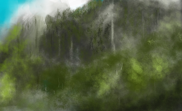 Forest Landscape 10-31-09 Print by David Lane