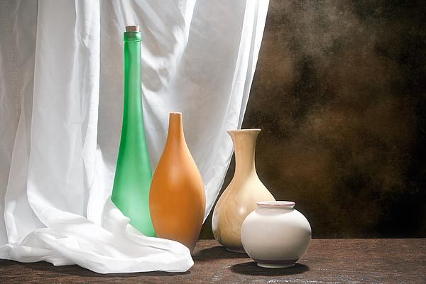 Four Vases I Print by Tom Mc Nemar