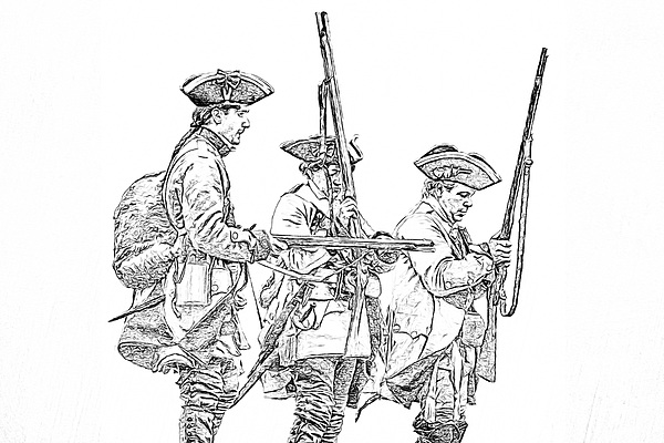 french and indian war coloring pages | French And Indian War British Soldiers Sketch Greeting ...