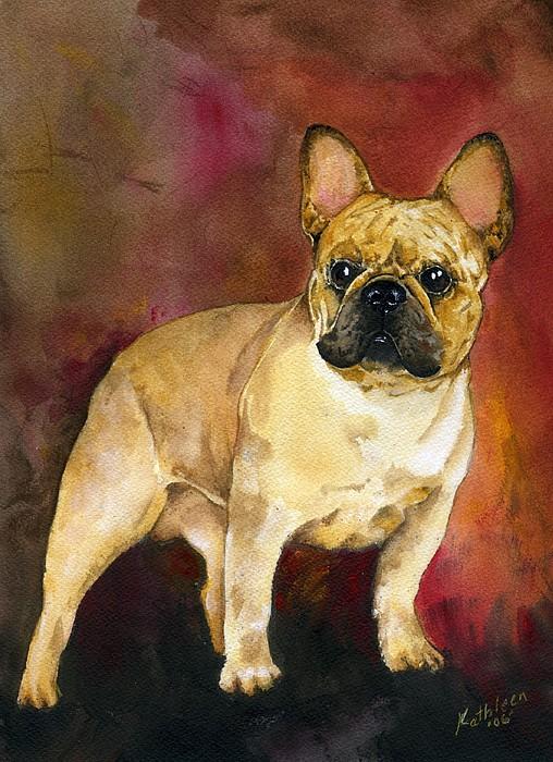 French Bulldog Print by Kathleen Sepulveda