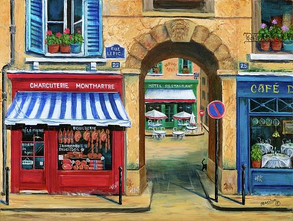 French Butcher Shop Print by Marilyn Dunlap