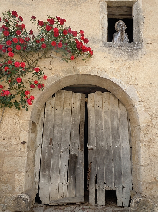 French Doors And Ghost In The Window Print by Marilyn Dunlap