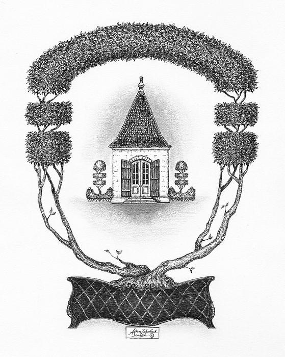 French Garden House Print by Adam Zebediah Joseph