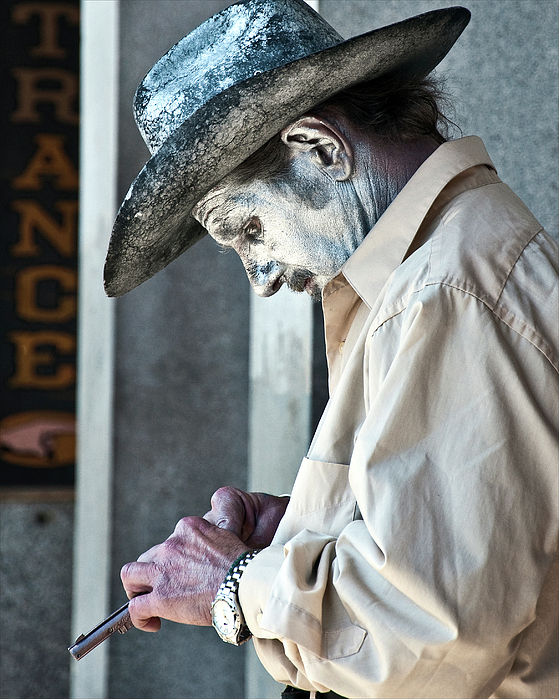 French Quarter Cowboy Mime Print by Kathleen K Parker
