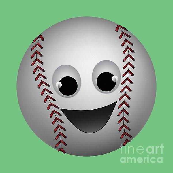 Fun Baseball Character Print by MM Anderson