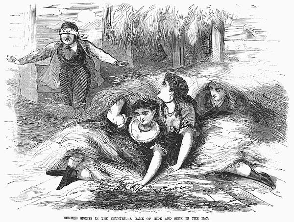 Games: Hide And Seek, 1887 Print by Granger