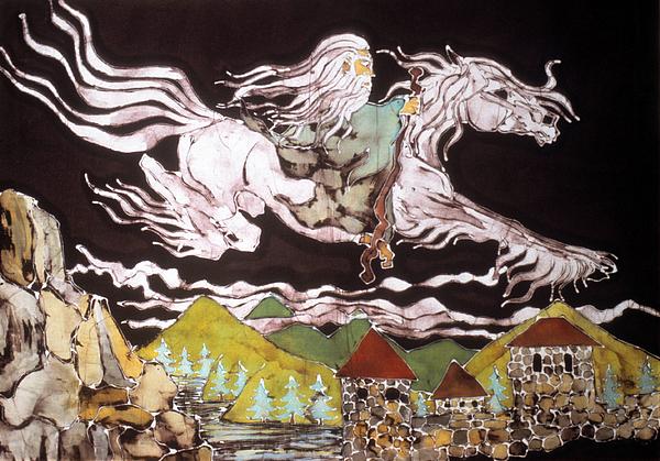 Gandalf And Shadowfax Print by Carol Law Conklin