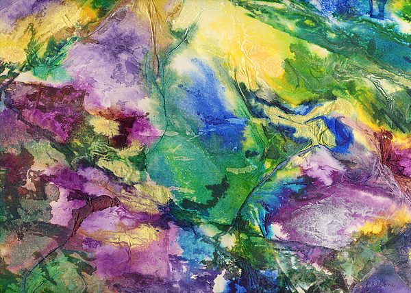 Garden Hues A Collage In The Colors Of A Country Garden Print by Phil Albone
