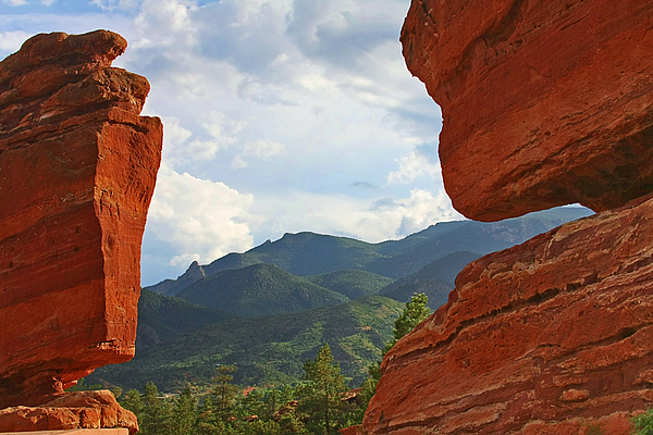 Garden Of The Gods - Colorado Springs Print by Christine Till