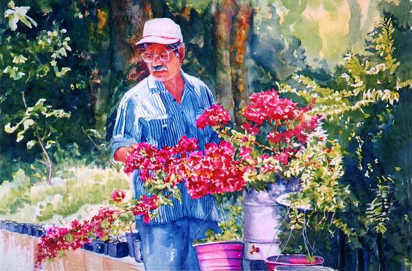 Gardener Print by Estela Robles