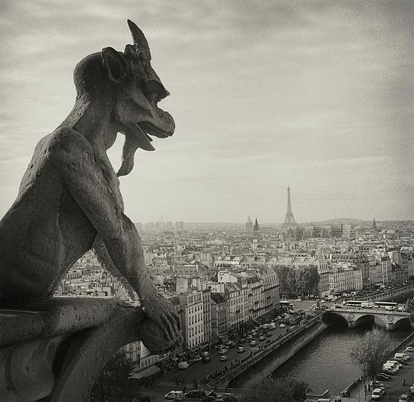 Gargoyle Of Notre Dame Print by Zeb Andrews