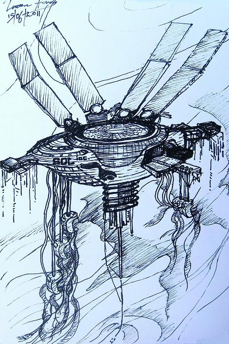 Gas Giant Miner 1 Print by Lowen Hardy