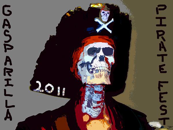 Gasparilla Pirate Fest Poster Print by David Lee Thompson