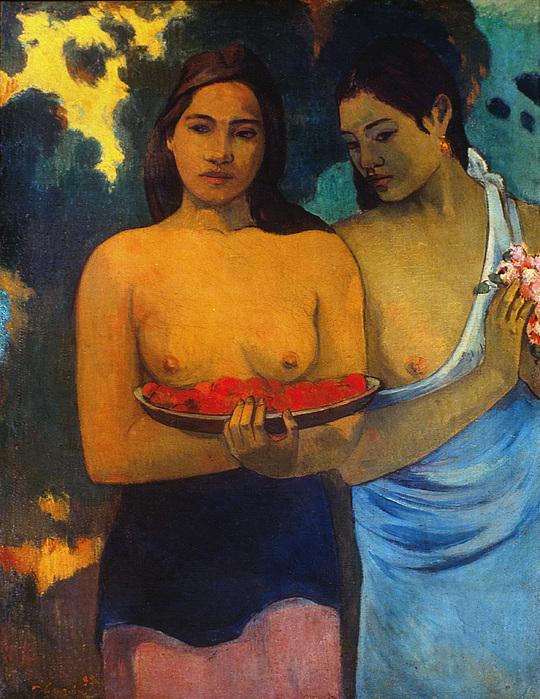 Gauguin: Two Women, 1899 Print by Granger