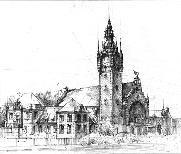 Gdansk Railway Station By Krystian Wozniak