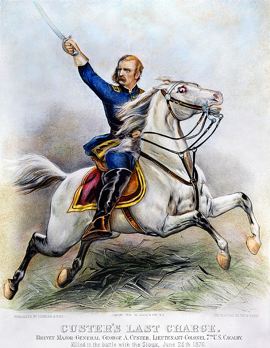 George Armstrong Custer Print by Granger