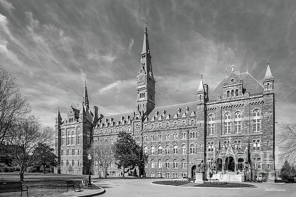Georgetown University Healy Hall Print by University Icons